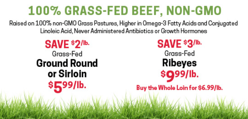 earth fare grass fed beef sale