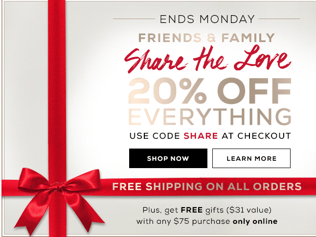 bare minerals 20% off plus free shipping