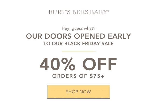 burt's bees organic clothing black friday