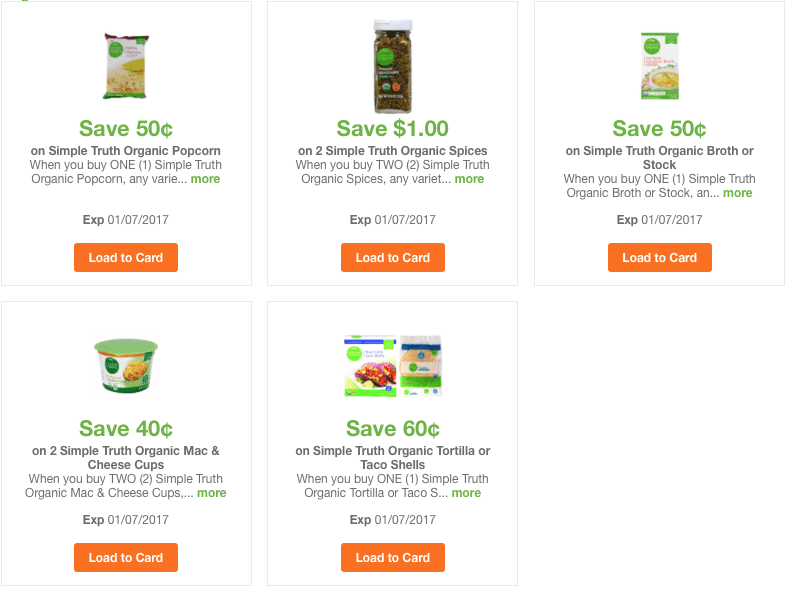 simple truth organic coupons