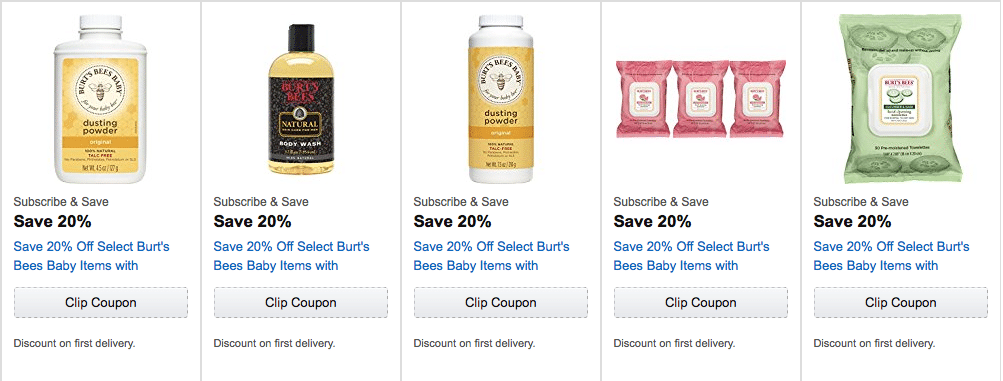 burt's bees coupons amazon