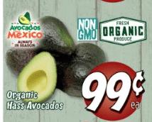 organic avocado fresh thyme