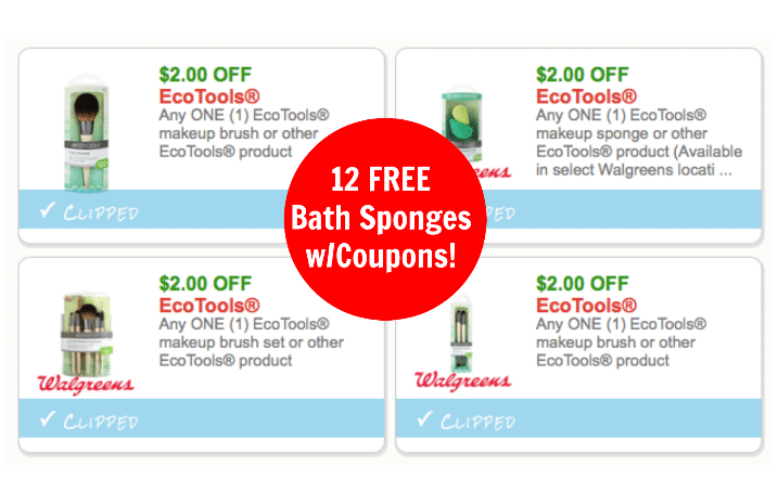 Hot 6 New 2 Ecotools Coupons Free Bath Sponges At Target