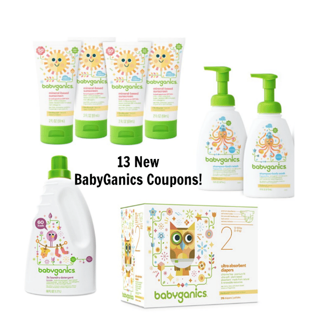 Hot 13 New Babyganics Coupons On Amazon As Low As 18 A Diaper 1 79 Sunscreen 4 05 Large Bug Spray Laundry Detergent Deals And More All Natural Savings