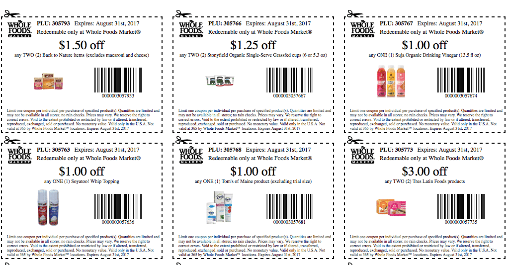 graphic regarding Whole Foods Printable Coupons referred to as 31 Clean Total Meals Current market Printable Coupon codes- August 2017