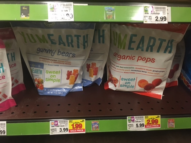 Hot Prices on Yum Earth Natural & Organic Candy at Kroger