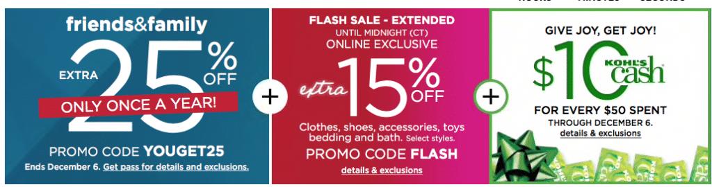 ce2f3a1c41c Kohls.com Flash Sale  15% off Coupon Code Stackable with 25% off ...