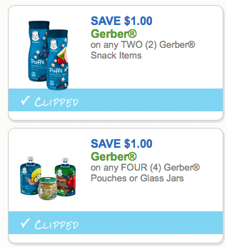2 New Gerber Organic Coupons Walmart Target Deals All Natural Savings