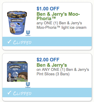 photo regarding Ben and Jerry's Printable Coupons called Uncommon- $3 within just Ben Jerrys Coupon codes- $.50 Pint Slices at