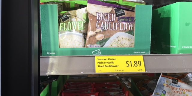 Riced Cauliflower Now At Aldi In The Frozen Section All Natural Savings