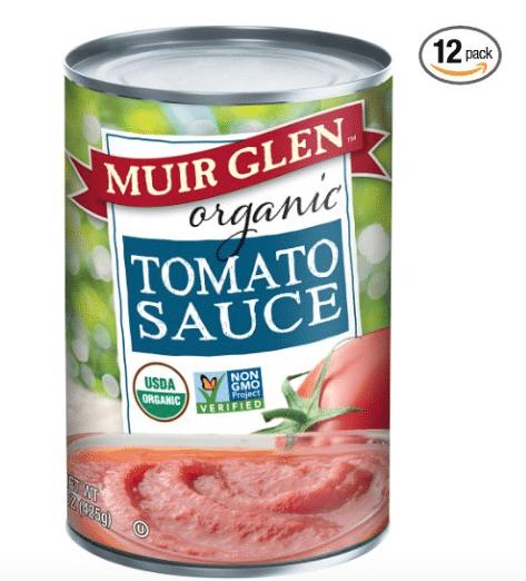 Muir Glen Organic Canned Tomato Sauce