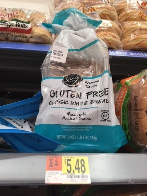 Sam's Choice Gluten-Free Bread