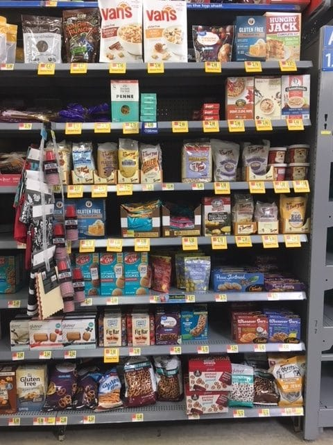 Walmart Gluten-free Section