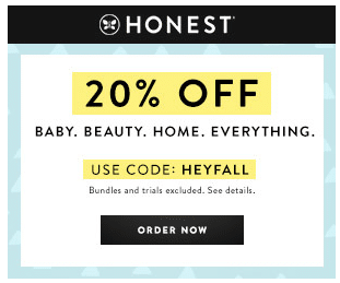 Honest 20% off SiteWide