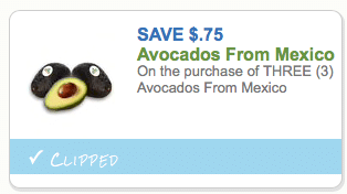 Printable Avocado Coupon
