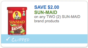 SunMaid raisins coupon