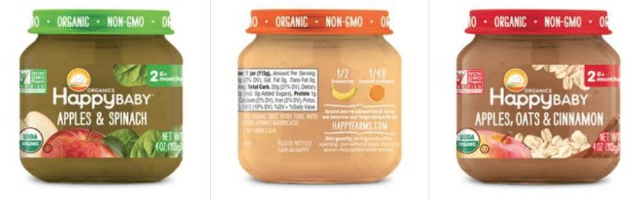 happy baby food jars