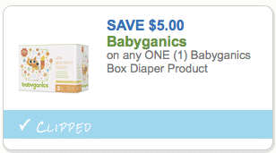 Babyganics $5 coupon