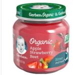 Gerber organic baby food jar
