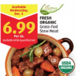 aldi organic grass fed stew meat