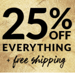 25% off free shipping