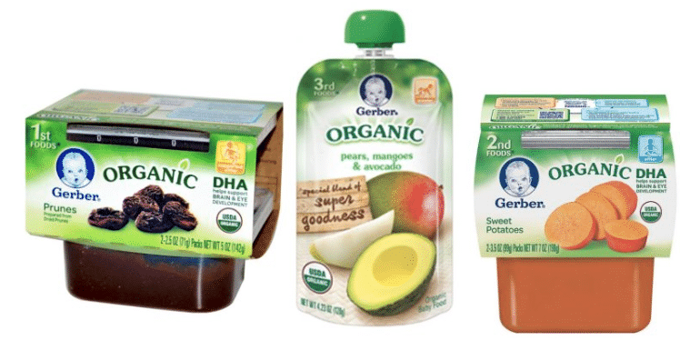 photo relating to Organic Coupons Printable named 3 Clean Gerber Printable Natural Boy or girl Meals Discount coupons - All