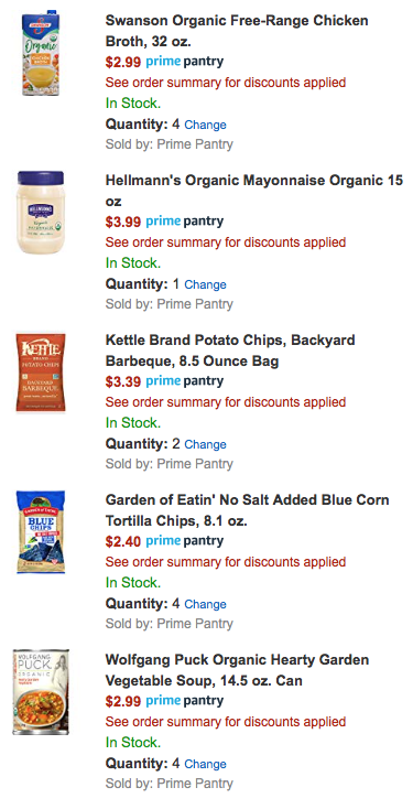HOT! Stack Multiple Promotions on Amazon Prime Pantry- $10